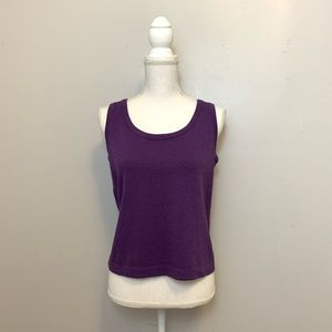 ST. JOHN SPORT • Sweater Tank Top